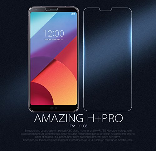 Nillkin Amazing H+ Pro - 0,22mm tempered glass with curved edge 2 5D 9H  screen protector For LG G6