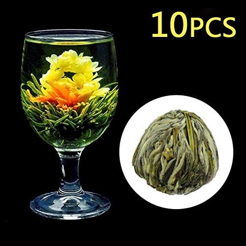 Wildlead 4Stück/10Stück Ball Niedlich Haus Küche Decor Handmade Blume die blühende Tee grün Kunst Zubehör Brautschmuck Tür schön Stil 10pcs