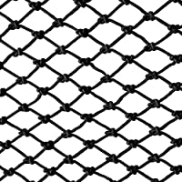 Chemical Fiber Stair Railing Net Black Rope Net Balcony Protection Net Pet Fence Net Child Safety Net Climbing Net Anti-fall Net, Railing Safety Net Balcony Safety Net Protection Net For Indoor And Ou
