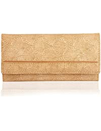 K London Sea Shell Print Women's Wallet (Cream,Light Brown) (1515_shell)