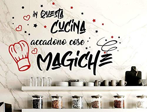 Adesivi Murali Cucina Frasi scritte italiano wall stickers kitchen  decorazione casa adesivi da parete cucina adesivo muro cucina citazioni in  questa ...