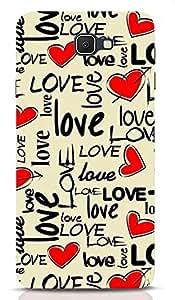 Love and Heart Print- Designer Samsung j7 Prime Back Cover Cases