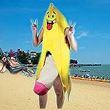 MagiDeal Bananenganzkörper kostüm für Erwachsene Herren Bananenganzkörper Frucht Anzug -