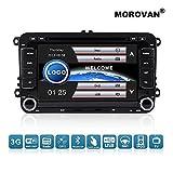 morovan Auto-DVD-Player für VW mit GPS Navigation FM/AM Radio CD/DVD MP3/MP4Player Auto Navigation 2DIN 17,8cm