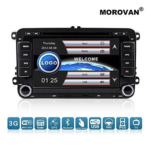 Reproductor de DVD morovan para coches Volkswagen, con navegación GPS, radio FM...