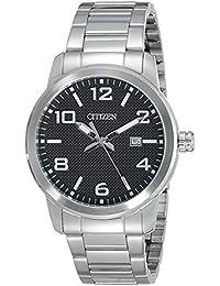 Citizen Herren-Armbanduhr Analog Quarz Edelstahl BI1020-57E