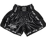BAY® Pro-Equip Mesh Muay Thai Short (schwarz/schwarz, M)