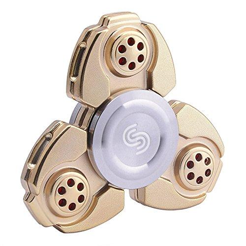 Preisvergleich Produktbild Fidget Spinner, Igearpro Zink-Legierung Metall Hand Tri-Spinner Spielzeug Anti Stress, für Konzentration, Gegen Nervosität, Langes Leises Drehen, 90 g