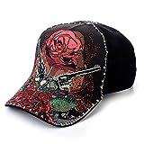 Sense42 | Baseball Cap | Unisex, für Damen und Herren | mit Strass | One Size verstellbar | schwarz| edel | exklusiv | Guns and Roses