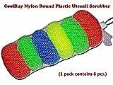 #6: Nylon Round Plastic scrubber (1 Set contains 6 pieces)/Safe for non-stick cookware