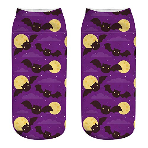 Scary Cat Kostüm - Halloween Kürbisse Socken für Männer Frauen Kinder Bat Spider Ghost Short Socken Scary Halloween Kostüme