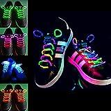 2pcs Fashion LED Shoelaces Shoe Laces Flashing Light Up Glow Stick Strap Neon Shoe Strings Luminous Laces Disco Party Supplies (Multicolor)