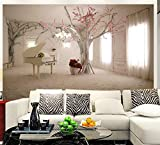 3D stéréo nordique personnalité papier peint murale salon TV fond d'écran chambre art extension de l'espace de tissu mural 8D, 350cm * 245