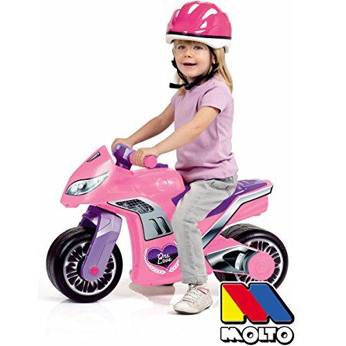 Rutsch Motorrad mit Helm und breiten Reifen, dient als Lauflernhilfe für die Kleinen, 73 cm, geeignet Innen und Außen, Robust, Lauflernrad fürs Gleichgewicht, Kinder Bike, Mofa Roller ab 18 Monaten - 2