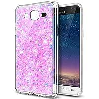 Ikasus® - Carcasa ultradelgada de suave silicona TPU flexible y transparente, con partículas brillantes de estilo purpurina en el interior, para Samsung Galaxy Grand Plus / Grand Neo / Grand Lite GT-I9060I i9060 i9062 i9082, rosa