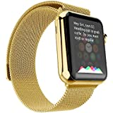 Apple Watch Band, 38mm Stainless Steel Apple Watch Strap with Unique Magnet Lock Luxury Replacement Watchband...
