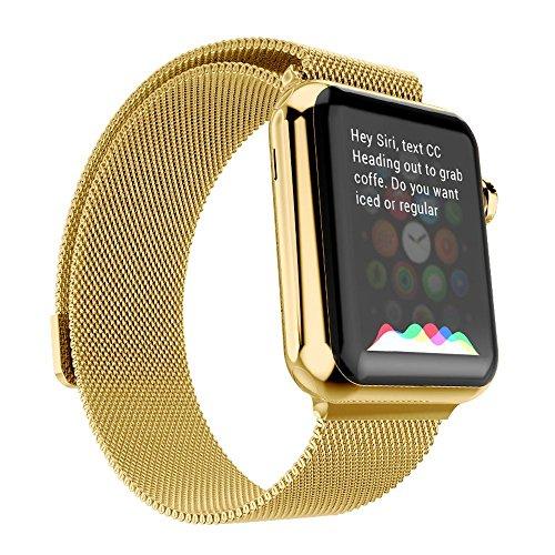 Ultra ® Oro superiore 42 millimetri Milanese loop in acciaio inox cinturino per orologi di Apple 42 millimetri di spessore tra cui adattatori 42 millimetri con adattatori e una cinghia