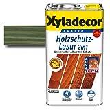 Xyladecor® Holzschutz-Lasur 2 in 1 Tannengrün 5 l - schützt vor Nässe & UV-Licht - betont die Holzmaserung