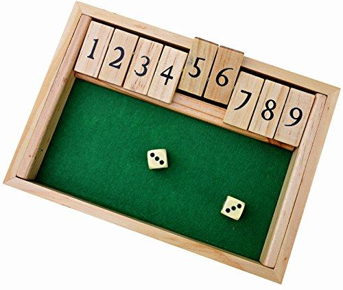 Shut-the-Box-Dice-Spiel-Luxus-9-Zahlen-Klappbrett-spiel-Jaques