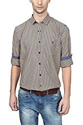 Allen Solly Mens Casual Shirt (8907308627408_ALSF515J03704_42_Dark Blue with Yellow)