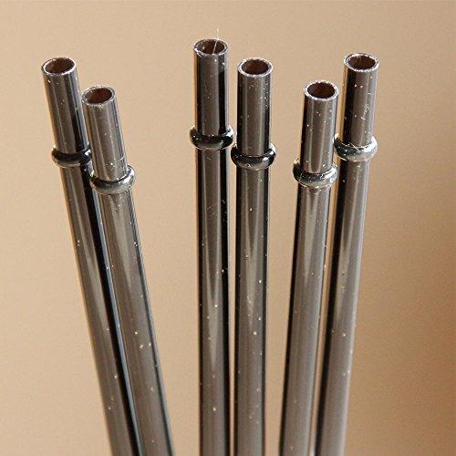 0Stück 27,9cm wiederverwendbar Klar Kunststoff Glitzer Sparkle Trinkhalm verschiedenen Farben Mason Jar Stroh (ads014- 23 cm schwarz (Mason Jar Trinkgläser Bulk)