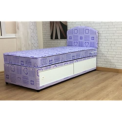3ft princess single divan bed mattress with rounded headboard princess bed with slide storage