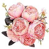 StarLifey Künstliche Blumen, Gefälschte Blumen Silk Plastic Künstliche Rosen 8 Heads Braut Hochzeit Bouquet für Hausgarten Party Hochzeit