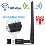 【Updated Version 2018】USB Wifi Adapter 1200Mbps, YATWIN 802.11ac Dual Band 2.4G/5G Wireless Network Adapter USB 3.0 Wi-Fi Dongle Adapter with 5dBi Antenna Support Win Vista, Win 7,Win 8.1, Win 10, Mac OS X 10.9-10.13