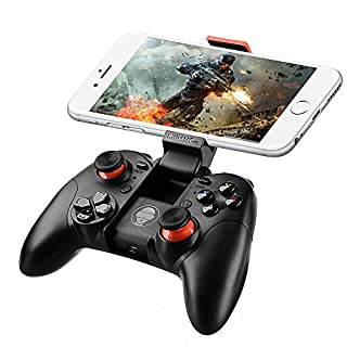 ARCHEER Bluetooth Wireless Game Controller Gamepad Joystick with Clip for iPhone iOS/Android Smartphones, Support Tablet/ PC/PS3/Samsung Gear VR/Emulator
