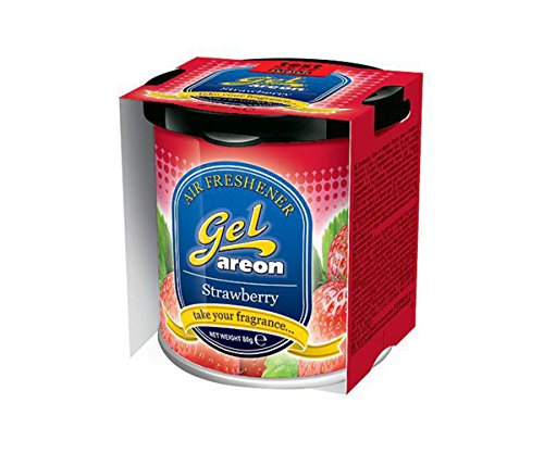Auto Hub Areon Strawberry Gel Car Perfume For Car, Home, Office Air Freshener, Scent  available at amazon for Rs.449