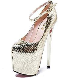 ZQ Zapatos de mujer-Tac¨®n Robusto-Tacones-Tacones-Oficina y Trabajo / Casual-Sint¨¦tico-Negro / Gris , black-us8.5 / eu39 / uk6.5 / cn40 , black-us8.5 / eu39 / uk6.5 / cn40