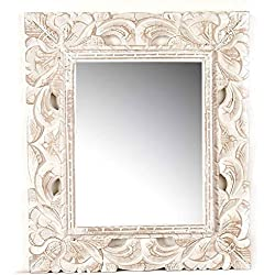Espejo de madera tallado