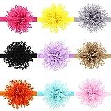 Baby Mädchen Kinder Prinzessin Ausschnitt Hasenohren Stirnbänder Haarbänder Kopftuch Stirnbänder Chiffon Blumen-Haar-Schleife (5)