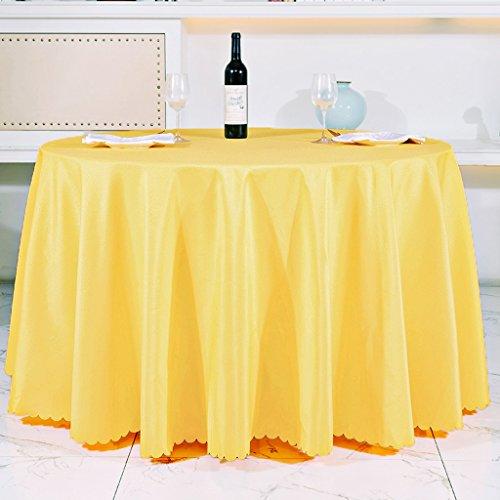LULU LLH Hotel-Tischdecke, kontinentales Gaststätte-Gaststätte-Tuch, Konferenztischdecke, Polyester-Gewebe, rechteckig 47.24 * 70.87inch Tapete ZHUOB (Farbe : Gelb)