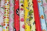 5 Rollen Geschenkpapier unterschiedliche Muster je Rolle 200 cm x 70 cm …