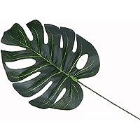 jarown 30pcs planta artificial hojas de seda Tropical Monstera Ceriman tema Decoración para Hogar Fiesta Oficina Almacenar Decoración, seda sintética, Verde, 45 cm