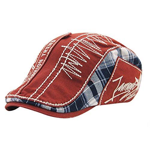UNIQUEBELLA Unisex Mütze Stickerei Damen Herren Mütze Damenmütze Mütze Baske Baskenmütze Wollmütze Beret Cap Herren Damen Kappen Freizeit Sport Cap