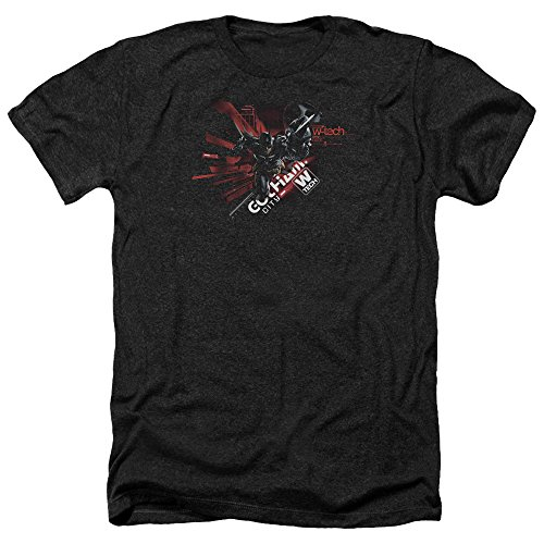 Trevco Batman: Arkham Knight Video Game Gotham City W-Tech Adult Heather T-Shirt Tee
