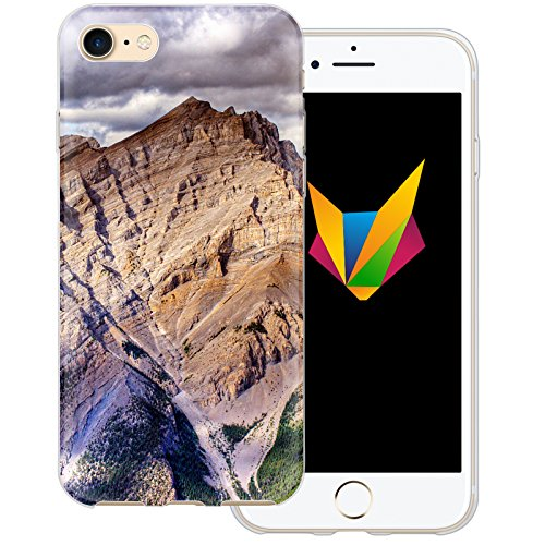 Mobilefox Berge transparente Silikon TPU Schutzhülle 0,7mm dünne Handy Soft Case für Apple iPhone 5/5S/SE Berggipfel - Cover Gel Hülle Fels