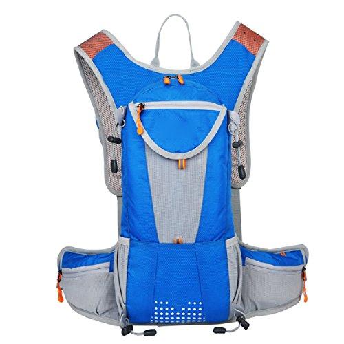 Idratazione Idrica Idratazione Idraulica Della Vescica Zaino Impermeabile In Esecuzione Ideale Per Gli Sport All'aria Aperta,RoseRed Blue