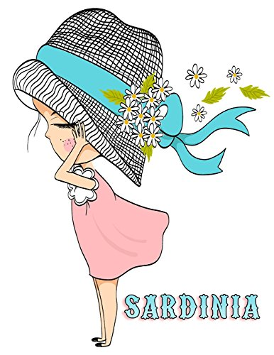Sardinia: 105 Lined Pages, Journal, Diary, Notebook, Personalized with Name Christmas, Birthday, Friendship Gifts for Girls, Teens and Women por Black River Art
