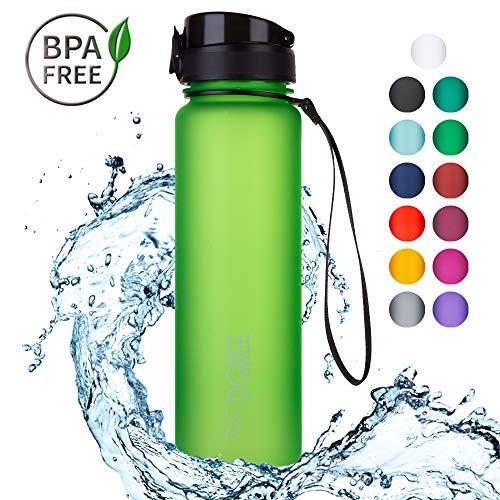 720°DGREE Trinkflasche 'uberBottle' - 1L | Wasserflasche Auslaufsicher | Sportflasche, Schule, Sport, Fahrrad | BPA-Frei | Jetzt Neu mit Fruchteinsatz