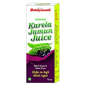 Baidyanath Karela Jamun Juice – Helps Maintain Healthy Sugar Levels – 1L