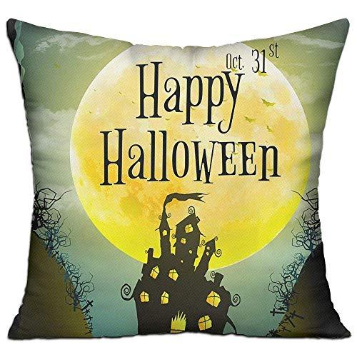 Xukmefat Kissenbezug Kissenbezug Halloween Party Horror Gruß Dekorative Kissenbezug Sofa Sitz Auto Kissenbezug Weiche 18x18 Zoll