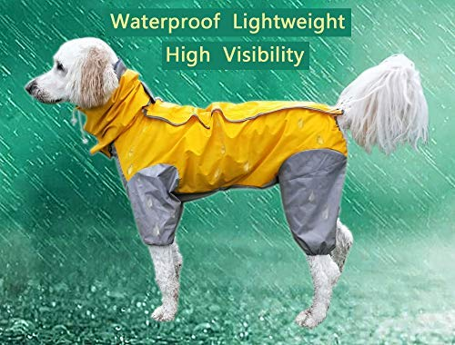 MASKOTA Hunde-Regenmantel, wasserdicht, leicht und hohe Sichtbarkeit, volle Größen für große, mittelgroße und kleine Rassen, Poncho mit Kapuze, für alle Rassen, Size 28 - Polar-poncho