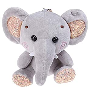 QSJWLKJ 10cm Super Cute Dumbo Peluche Animal de Peluche Pequeño Colgante Lovely Mini Cartoon Elephant Doll Regalos para
