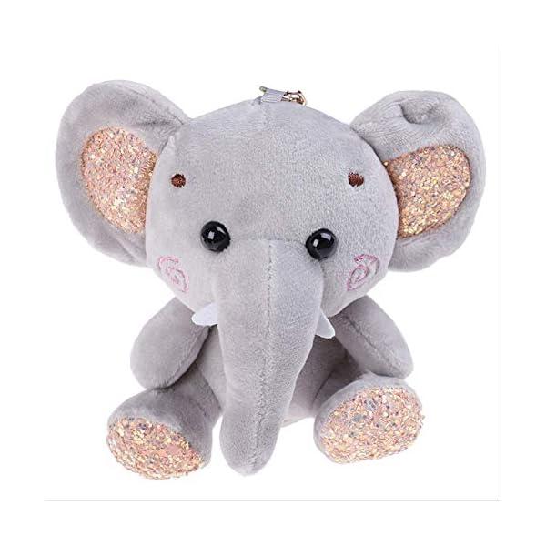 QSJWLKJ 10cm Super Cute Dumbo Peluche Animal de Peluche Pequeño Colgante Lovely Mini Cartoon Elephant Doll Regalos para