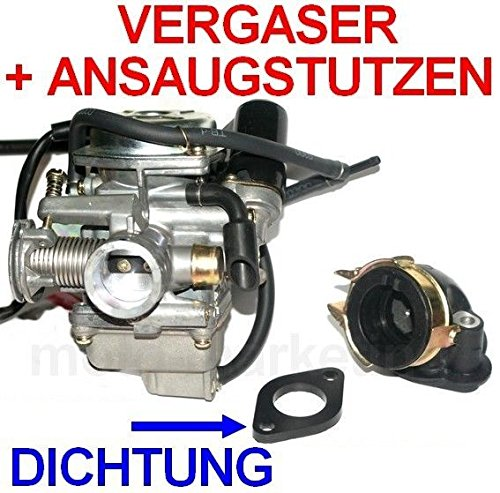 Unbranded Sport VERGASER 24mm E-Choke ANSAUGSTUTZEN für TGB F 409 DELIVERY Express 125