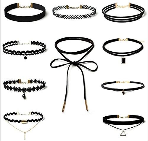 obbs-10pcs-gothic-necklace-set-retro-black-velvet-classic-tattoo-lace-choker-chain