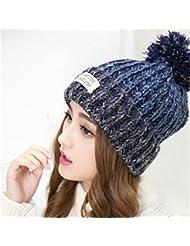 Demarkt Lady Mädchen Fresh Farbe Flower Beanie Beret Warm Winter Strickmütze Cap 1
